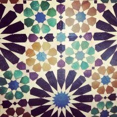 Islamic Tile (Flower pattern detail) - Cordoba