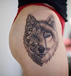 For Body Tattoo Designs Enthusiasts Absolutely No Area is Off Limits. Sleeve Tattoo Designs and Lower Back Tattoo Designs for women are. Pretty Skull Tattoos, Lace Skull Tattoo, Unique Tattoos, Small Tattoos, Wolf Tattoo Design, Skull Tattoo Design, Tattoo Wolf, Wolf Pack Tattoo, Fire Tattoo