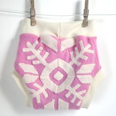 tribal snowflake  pink sorbet cashmere  pull on wool by rebourne