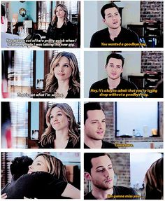 "Halstead: ""You can't stay away, can you?"" Lindsay: ""What? I forgot something.""  (2x10)"