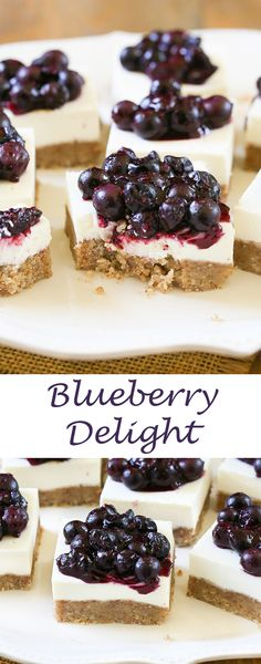 Blueberry Cheesecake Delight - Celebrate the arrival of summer with buttery pecan crust blueberry cheesecake made with @SPLENDA® Naturals Stevia Sweetener. #ad #SplendaSweeties #SweetSwaps