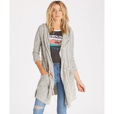 Billabong MAKE A BET Athletic Grey Relaxed Lightweight Sweater Junior/'s Cardigan