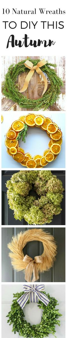 10 Natural Wreaths You can DIY This Fall