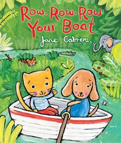 """Row, Row, Row Your Boat"" by Jane Cabrera is one of 10 nominees for the 2015 Missouri Building Block Picture Book Award."