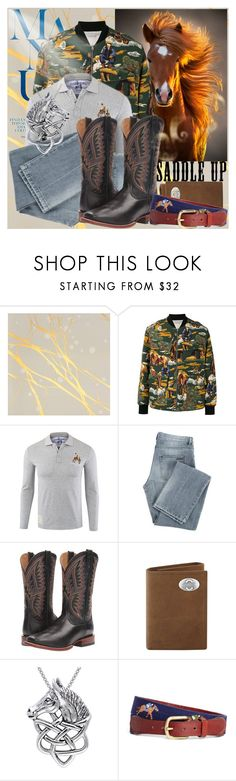 """""""Horsemen"""" by anniecy ❤ liked on Polyvore featuring Calico Wallpaper, STELLA McCARTNEY, Givenchy, Ariat, Carolina Glamour Collection, Brooks Brothers, men's fashion, menswear, ridingboots and Horse"""