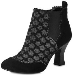 Ruby Shoo Sammy Black Womens Ankle Boots Shoes