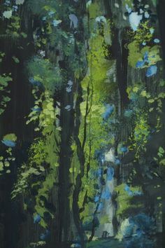 'The Forest Pool' (detail) by Phil Cooper (acrylic on board)