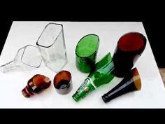 How to cut glass vase wine bottles 29 Ideas Cutting Glass Bottles, Cut Glass Vase, Recycled Glass Bottles, Painted Wine Bottles, Wine Bottle Cutting, Cut Wine Bottles, Glass Art, Liquor Bottle Crafts, Diy Bottle