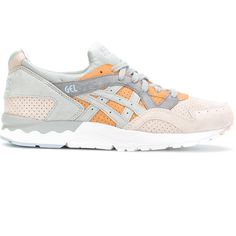 Asics contrast lace up trainers ($148) ❤ liked on Polyvore featuring shoes, sneakers, grey, lace up shoes, laced sneakers, asics trainers, lace up sneakers and asics sneakers