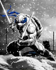 Damon Bowie Teenage Mutant Ninja Turtles Artwork - so sick!