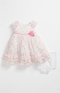 Laura Ashley Wallpaper Print Dress & Bloomers (Infant) available at #Nordstrom.....So cute :)