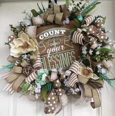 """Count Your Blessings"" Wreath by She's Crafty Too"