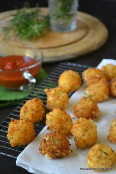 Fried Rosemary Mozzarella Balls