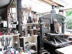 albion platen press - 1889 at Bracken Press
