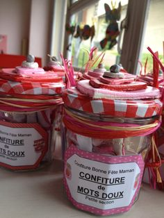 DIY: a jar of jam revisited Diy For Kids, Crafts For Kids, Advantages Of Watermelon, Sweet Words, Mother And Father, Food Items, Potpourri, Art Education, Special Day