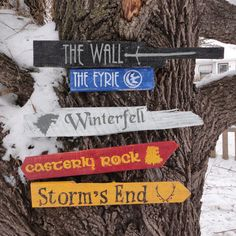 Game of Thrones Wooden Directional Sign 5 Pack by CurioObscurio, $85.00