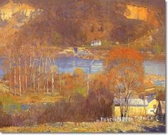 Daniel Garber - Tohickon Valley Detail - Bucks County Painting