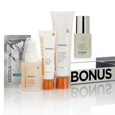 Serious Skincare Serious C Trio with Bonus Pure-Pep Fading Fluid at HSN.com. This is the best ever!
