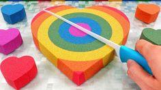 DIY How to make Rainbow Heart Kinetic Sand Cake Learn Colors for Kids Sand Cake, Nursery Rhymes Songs, Kinetic Sand, Rhymes For Kids, Oddly Satisfying, Rainbow Heart, Learning Colors, Kids Songs, Coloring For Kids