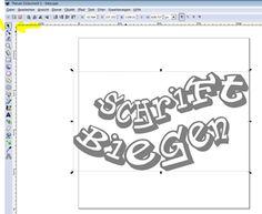 So können Sie mit dem Brother Scan-N-Cut und Inkscape Schriften biegen.