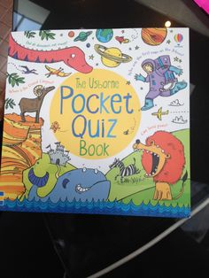The Usborne Pocket Quiz Book $6.99 Crammed full of animals, pirates, castles and more, this little book has over 500 questions to challenge you and your friends.   Ex. Which Australian outlaw wore a homemade metal suit to protect himself: 'Mad' Dan Morgan or Ned Kelly?  What made the strange stone columns of the Giant's Causeway in Northern Ireland? a. volcanic eruption  b. tidal wave  c. hurricane www.familyreadinghabit.com