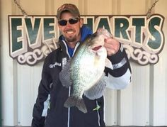 Jeff Faulkenberry, a guide at Truman Lake, caught a 3.21-pound crappie Tuesday and later donated the fish to Bass Pro Shops for display in one of its aquariums.