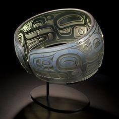 Tlingit Killer Whale Bracelet Sculpture by Joe David / Preston Singletary, Collaboration (X111005)
