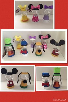 Mickey Mouse clubhouse character bubble gum center pieces.