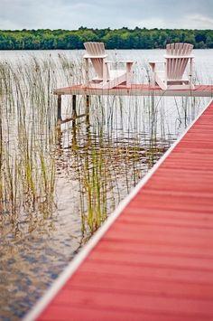 Cottage Dock near Lake Michigan