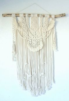 3mm cotton rope macrame wall Dimensions: 66 x 75cm