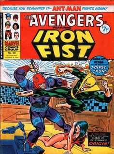 Marvel UK Avengers #58. Iron Fist.
