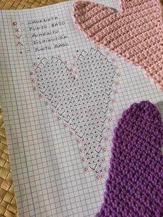La ventana azul: 138.- Corazón a crochet