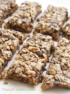 Dark Chocolate  Granola Bars - might be cheaper than buying these all the time - add a bit of cinnamon?