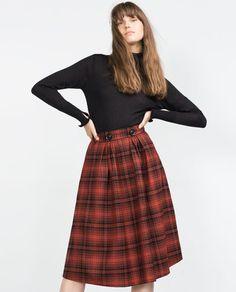 Image 2 of FULL CHECK SKIRT from Zara