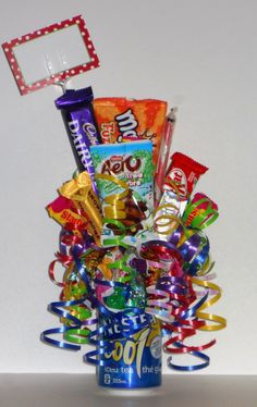 MY BEST SELLING CHRISTMAS EXPLODING POP CANS FEATURING NESTEA ICE TEA Softball Gifts, Birthday Bouquet, Pop Cans, Chocolate Bouquet, Candy Bouquet, Ice Pops, How To Make Chocolate, Some Ideas, Small Gifts