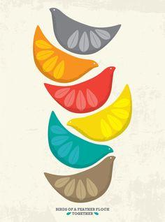 Cathrine Holm inspired Birds Illustration -