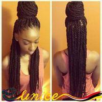 "Wholesale Price Senegalese Braids African Braids Hairstyles 20"" 22"" 24"" Synthetic Havana Mambo Twist Braiding Hair Extension"