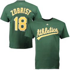 Ben Zobrist Oakland Athletics Majestic Official Name and Number T-Shirt - Green - $21.99