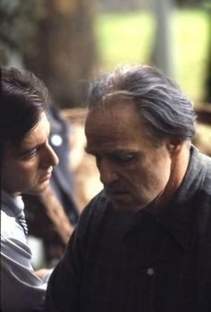 """The Godfather"" Al Pacino, Marlon Brando 1972 The Godfather Saga, Godfather Part 1, Godfather Movie, Al Pacino, Don Corleone, Corleone Family, Marlon Brando, Film Books, Cultura Pop"