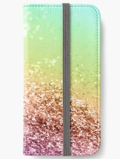 """Rainbow Girls Glitter #2 #shiny #decor #art"" iPhone Wallets by anitabellajantz 