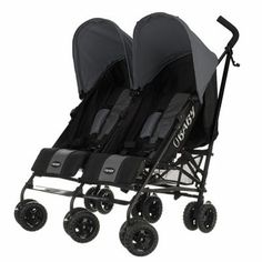 Buy Obaby Apollo Black and Grey Twin Stroller - Grey at Argos.co.uk, visit Argos.co.uk to shop online for Pushchairs