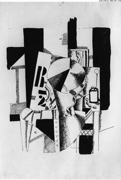 LEGER, Fernand. Dessin à l'encre de chine. (Ref#: 1093 ). 1918. Size in Cm: 47 x 32.