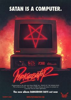 "Perturbator ""Dangerous Days"" Poster | PERTURBATOR"