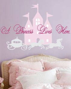 For Morgan's New Room - Princess Name Decal  Nursery  girls bedroom  horse  by SignJunkies, $43.95
