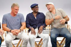 Actors Dolph Lundgren, Wesley Snipes and Randy Couture attend The Expendables 3 Movies on Demand Interview session at Hard Rock Hotel San Diego on July 2014 in San Diego, California. Randy Couture, Hard Rock Hotel, The Expendables, 3 Movie, Movie Stars, Attractive Male Actors, Blade Movie, San Diego, New Jack City