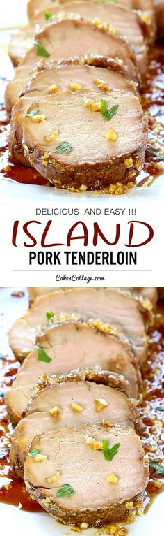 Pork Tenderloin with sweet and spicy Caribbean flare and packed with flavor.....