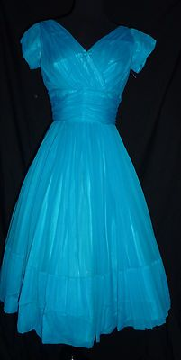 Vintage lovely blue Cocktail Dress