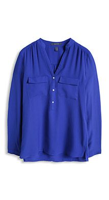8e431ff8d8f56 Esprit   silky crêpe blouse with breast pockets Blouse Online