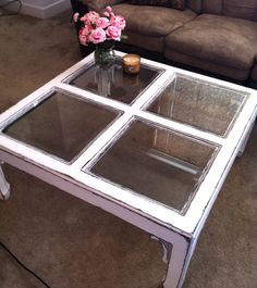 Elegant white shabby chic table