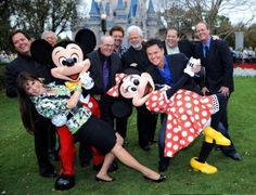 Osmonds ..50th Anniversary. Mickey and Minnie Mouse with Marie, Jimmy, Wayne, Tom, Jay, Merrill, Donny, Alan and Virl